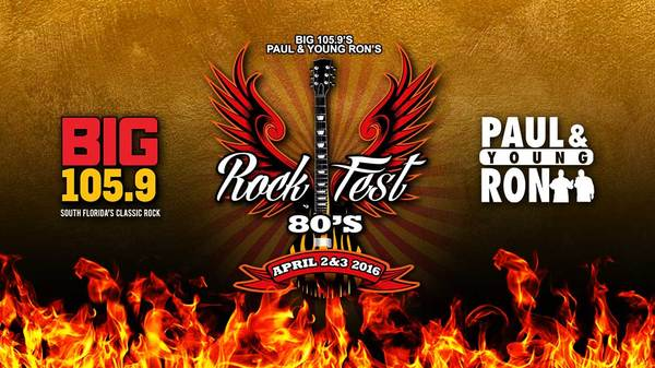Bret Michaels and Paul Rodgers Set to Headline Big 105.9's Paul & Young Ron's RockFest 80's Music Festival