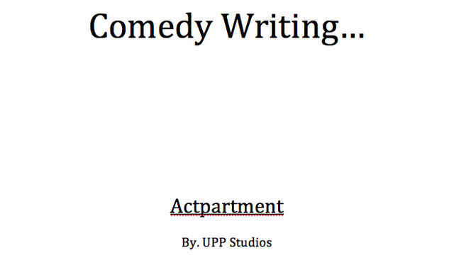 Blog 009 | Comedy Writing