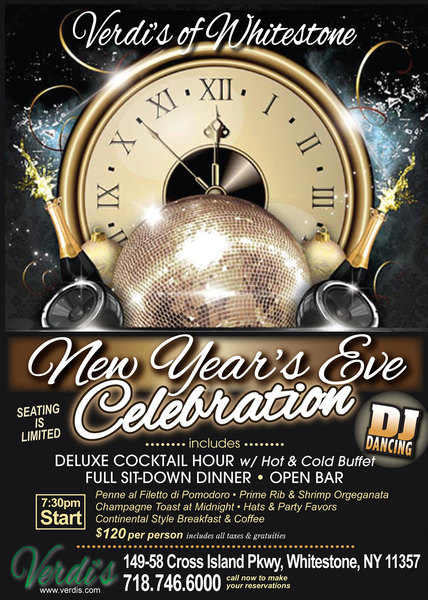 Celebrate 2017 New Years Eve at Verdi's
