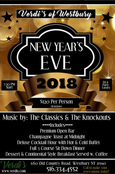 New Years Eve at Verdi's of Westbury