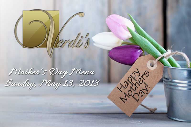 Mother's Day 2018 Menu