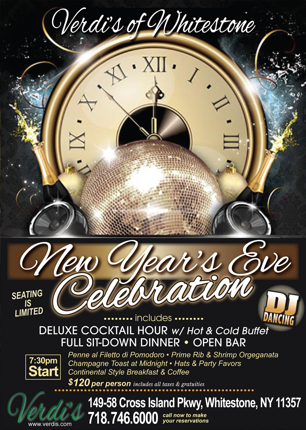 Celebrate 2018 New Years Eve at Verdi's