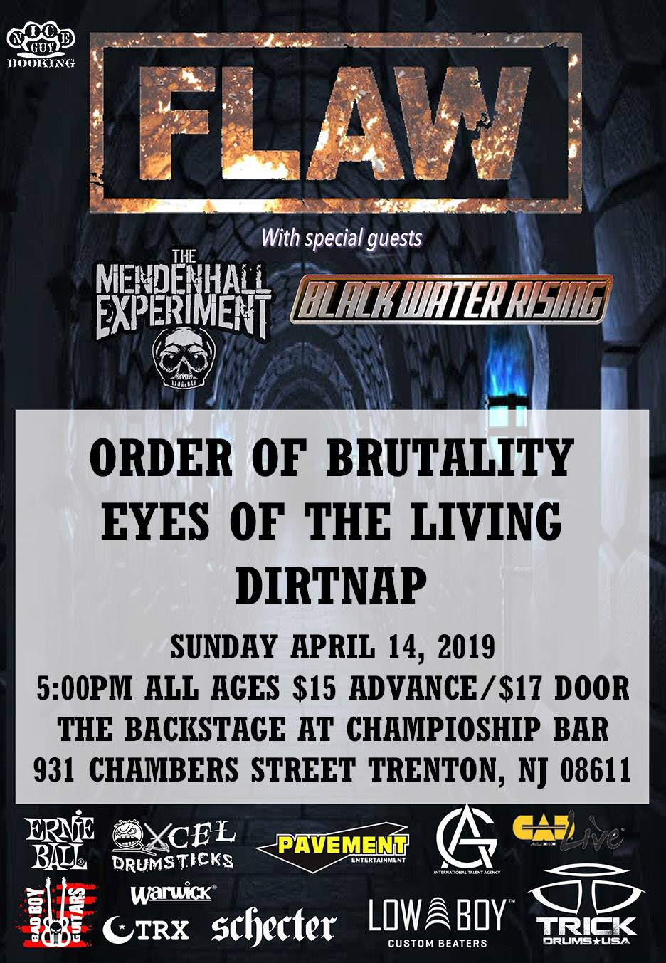 Flaw/The Mendenhall Experiment/Black Water Rising @ Championship Bar