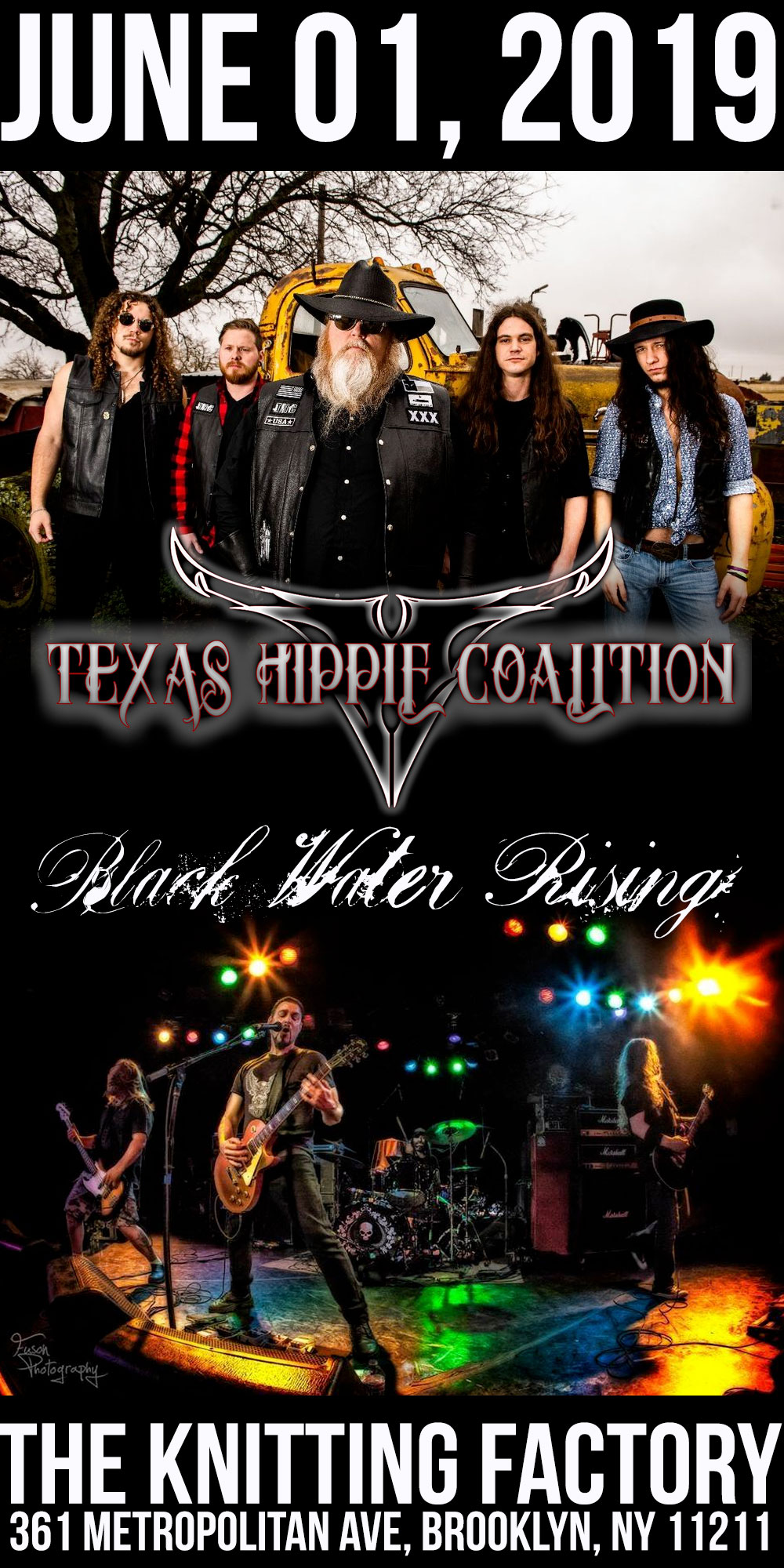 Texas Hippie Coalition and Black Water Rising at The Knitting Factory